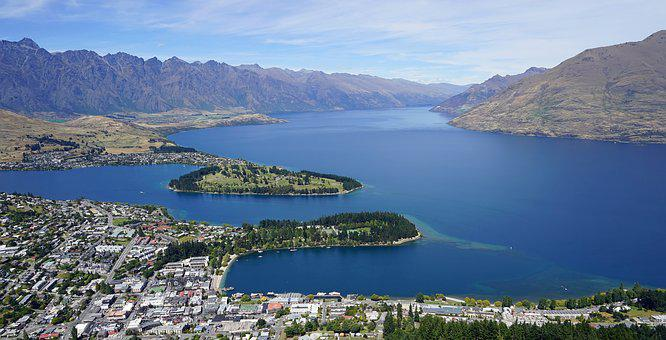 Lake Wakatipu, Queenstown, Bobs Peak, New Zealand