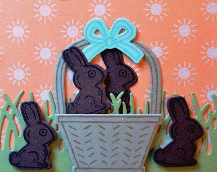 Easter, Bunny, Chocolate, Rabbit, Holiday, Stamp