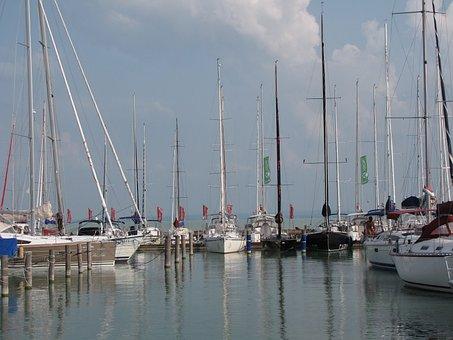 Lake Balaton, Sailboats, Ship, Lake, Sailing, Hungary