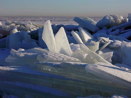 Ice, Snow, Winter, Lake, White