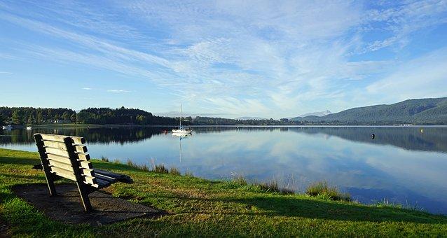 Te Anau, Lake, New Zealand, South Island, Landscape