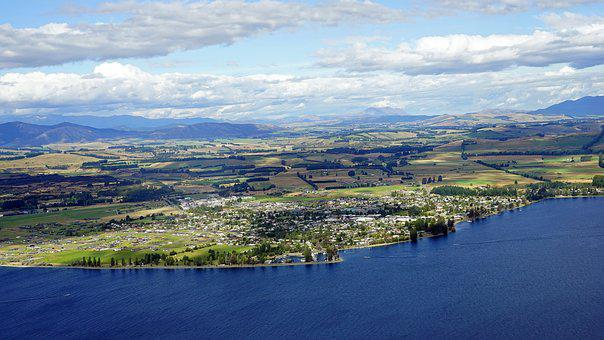 Te Anau, Aerial View, New Zealand, South Island