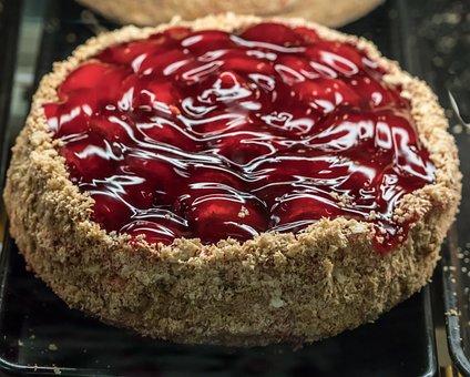 Strawberries, Cake, Pie, Fruit, Food, Healthy, Fresh