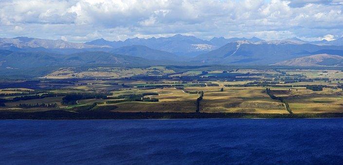 Aerial View, Te Anau, Lake, Mountains, Mood, Water
