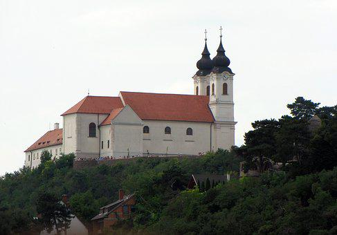 Lake Balaton, Hungary, Tihany, Church, Abbey Of Tihany