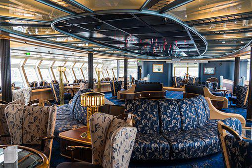 Cruise Ship, Hurtigruten, Finnmarken, Lounge, Tourism
