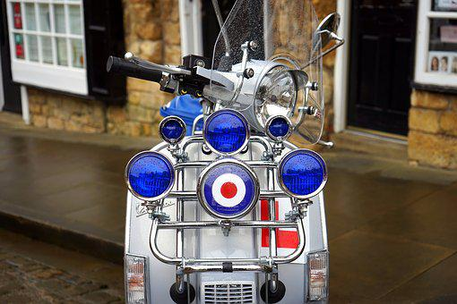 Scooter, 1960s, Retro, Vehicle, Italian, Transport, Old