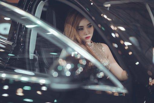 Woman In The Car, Girl, Fashion, Fashion Girl, Woman