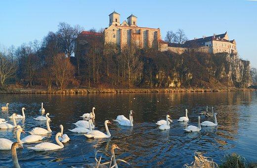 Kraków, Tyniec, Monastery, Architecture, Autumn, Abbey