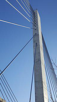 Bridge, Lavalle, Cable-stayed, Architecture, Steel