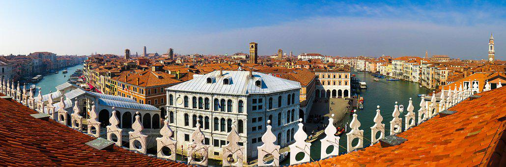 Architecture, Building, Venice, City, Panorama