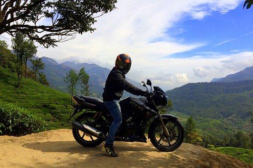Bike, Cliff, Biker, Tamilnadu, Nature, Healthy, Natural