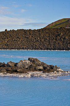 Blue, Lagoon, Iceland, Rock, Volcanic, Stone, Water