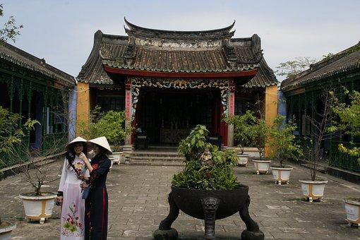 Japanese Inside, Temple, Costume, Girl With Coastumes
