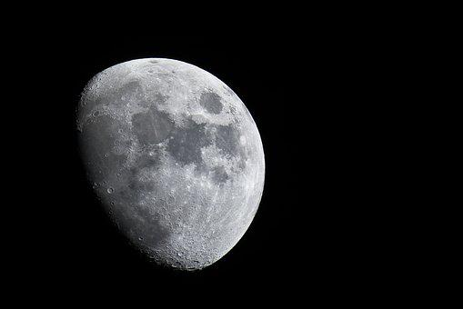 Moon, Telephoto Lens, Crater