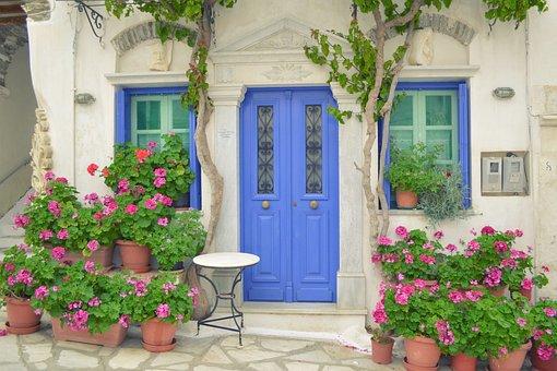 Greek Island Door, Tinos Island Pyrgos