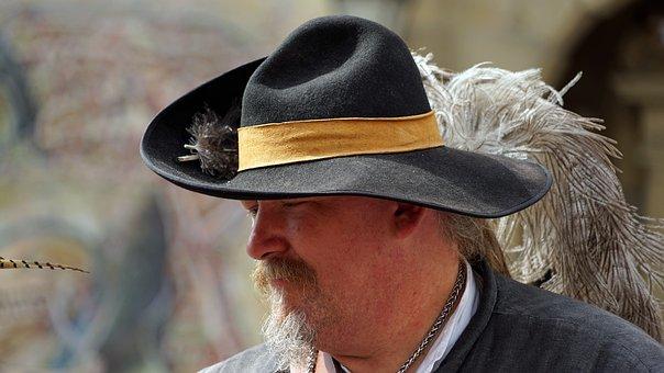 Man, Middle Ages, Hat, Historically, Landsknecht