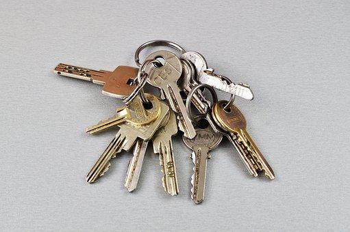 Key, Keychain, Door Key, House Keys, Close Up