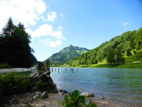Moutain, Lake, Landscape, Mountain, Water, Nature