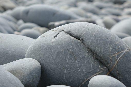 Big Pebble, Rock, Smooth, Seashore, Pebble, Nature