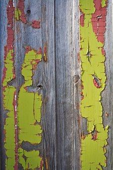 Old, Paint, Peeling, Wood, Wooden, Door, Texture