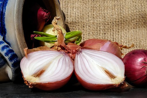 Onions, Red, Brown, Vegetable Onions, Sliced, Raw
