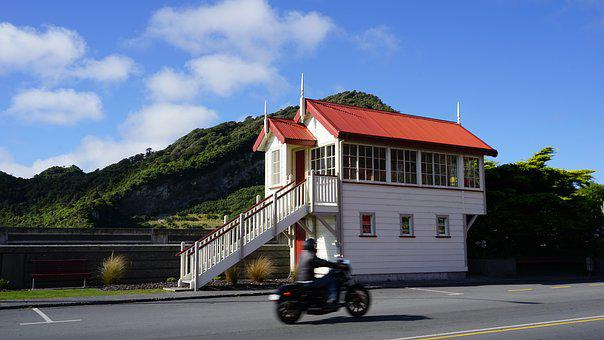 City ​​greymouth, New Zealand, Westcoast, South Island