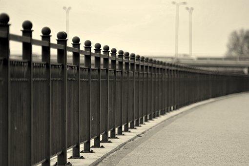 The Fence, Crash Barrier, Boulevard, Road