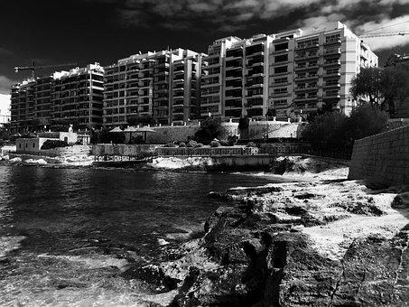 Malta, Beach, Sea, Holiday, Valetta