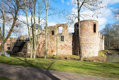 Bad Vilbel, Hesse, Germany, Castle, Vilbel, Ruin