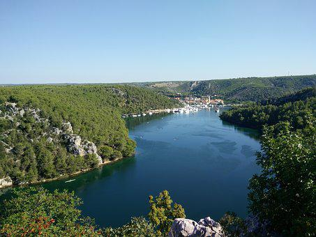 Bay, City Skradin, River Krka, Croatia