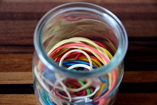 Rubber Bands, Colorful, Rubber, Rubber Band, Red, Blue