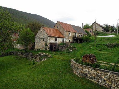 Priluka Village, Bosnia And Herzegovina, Rural, Village