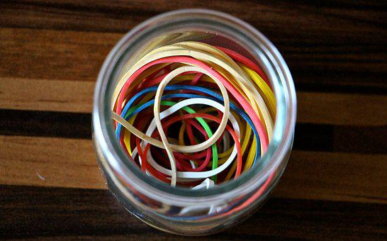 Rubber Bands, Kitchen Utensils, Tools, Colorful