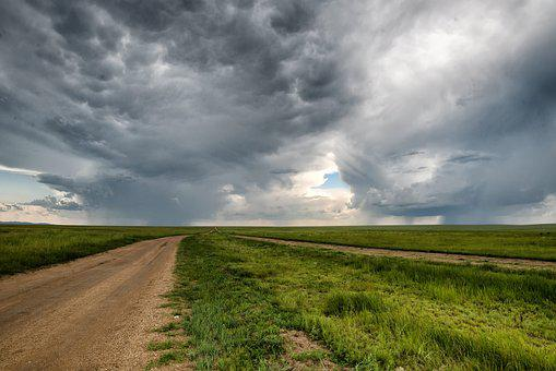 Road, Earth, Storm, Horizon, Meadow, Anxiety, Journey