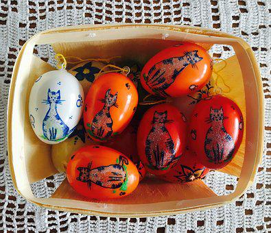 Easter, Egg, Paint, Gift, Tiger, Tiger Cats, Cat, Craft