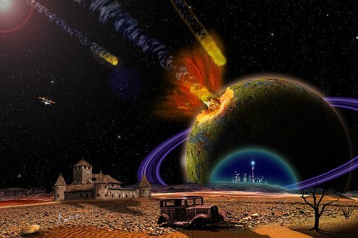 End-of-admoria, Armageddon, Explosion, Space, Planet