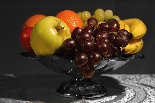 Fruit, Fruit Platter, Grapes, Green Grapes, Red Grapes