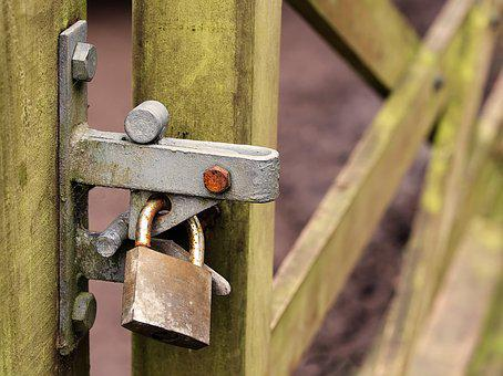 Locked, Gate, Padlock, Security, Closed, Secure