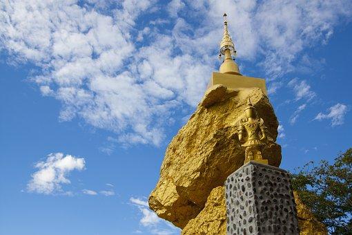 Temple, Travel, History, Buddha, Lumphun, Thailand
