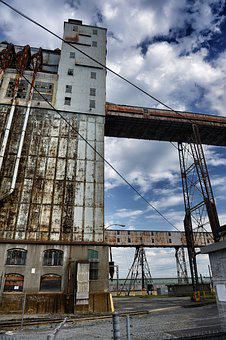 Montreal, Industrial, Building, Canada, Iron, Old
