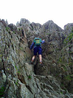 Lake District, Helvellyn, Climbing, Striding Edge