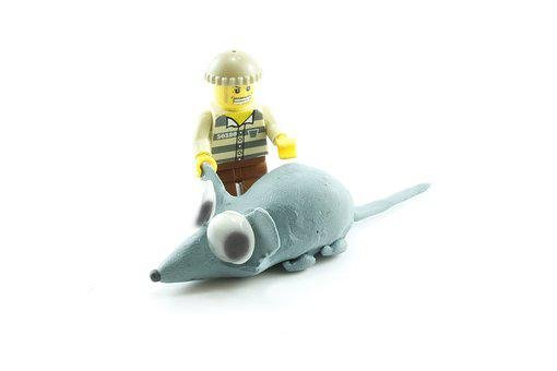 Plasticine, Mouse, Lego, Cartoon, Blue, Polymer