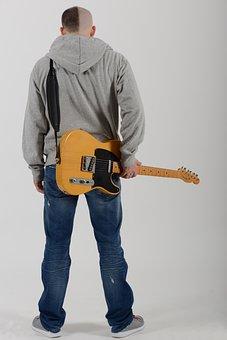 Sad Man, Guitar, Haircut, Musician, Instrument, Sadness