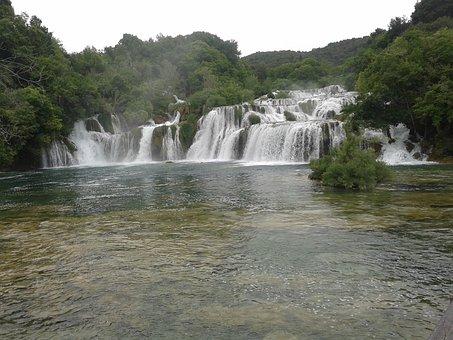 Waterfalls, River Krka, Nacional Park Krka, Croatia