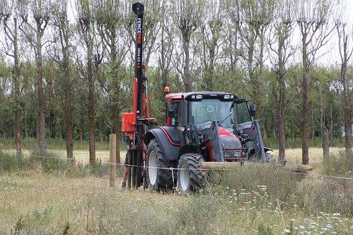 Tractor, Fencing, Paddock, Farm, Rural, Pasture, Farmer