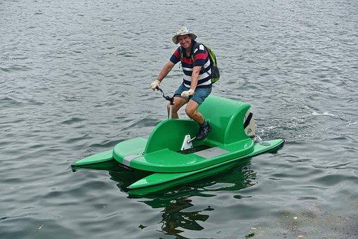 Watercraft, Bike, Peddle, Leisure, Transport, Nautical