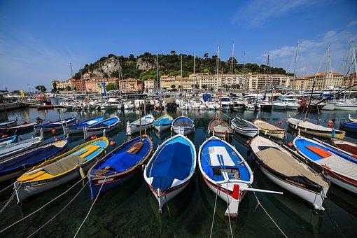 Port, Nice, France, Landscape, Côte D'azur