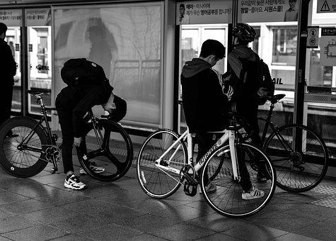Waiting, Travel, Bicycle Trip, Subway, The Wait