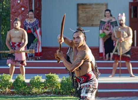 Maori, Painted, Warrior, New Zealand, North Island